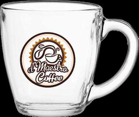 16 oz. Glass Bistro Coffee Mug