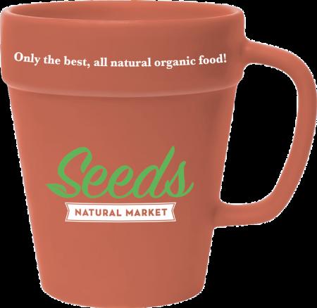 14 oz. Terra Cotta Flower Pot Mug