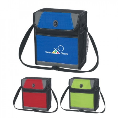 """Lunch Cooler Bag with Toggle Closure (8"""" x 9"""" x 4"""")"""