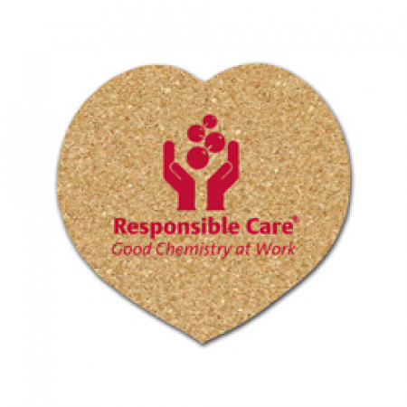 Cork Heart Coasters