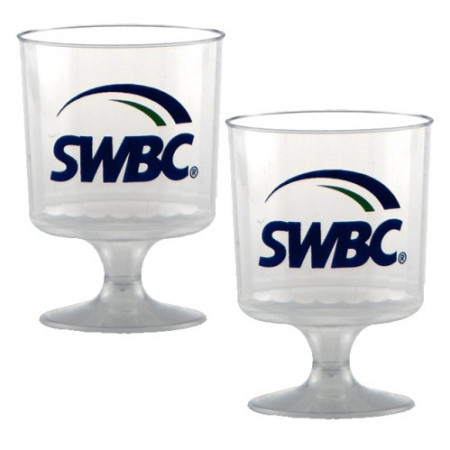 5 oz. Clear Plastic Footed Wine Glass