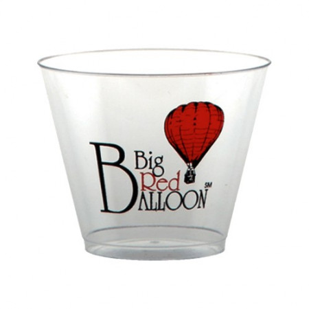 9 oz. Clear Plastic Rocks Cup