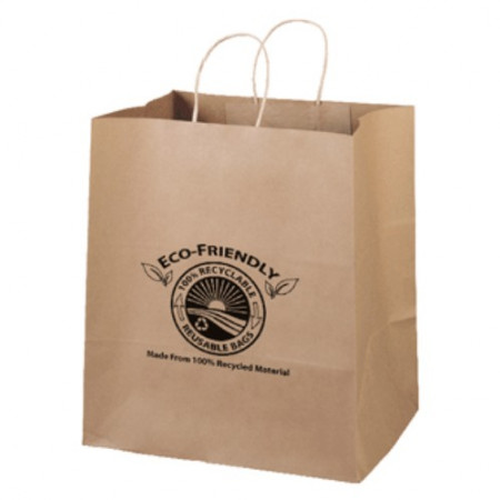 "Eco Kraft Shopping Bags (14"" x 15.5"" x 10"")"