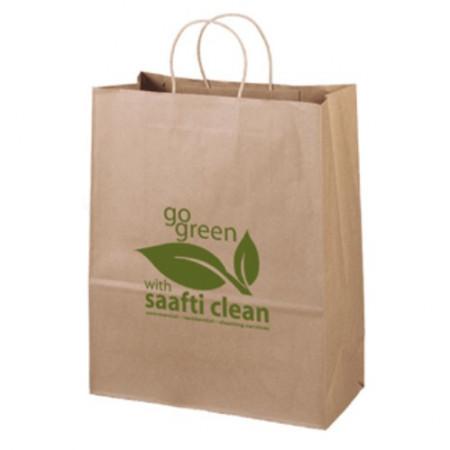 "Eco Kraft Shopping Bags (13"" x 15.75"" x 6"")"