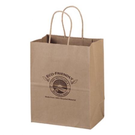 "Eco Kraft Shopping Bags (7.75"" x 9.75"" x 4.75"")"