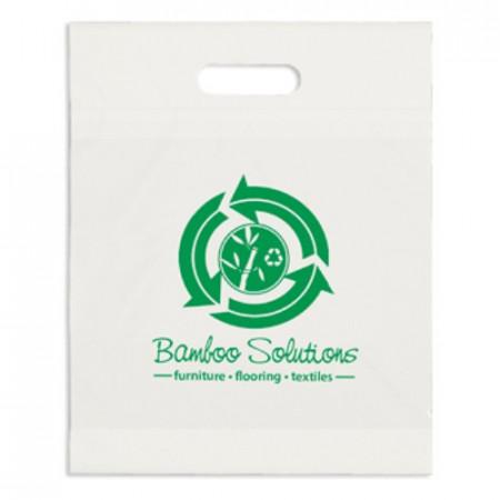 "Eco White Die Cut Handle Bags (12"" x 15"" x 3"")"
