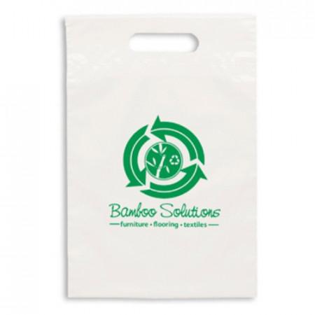 "Eco White Die Cut Handle Bags (9.5"" x 14"")"