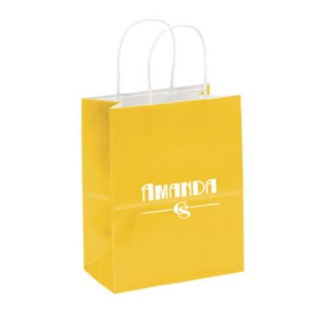 "Gloss Paper Shoppers (7.75"" x 9.75"" x 4.75"")"