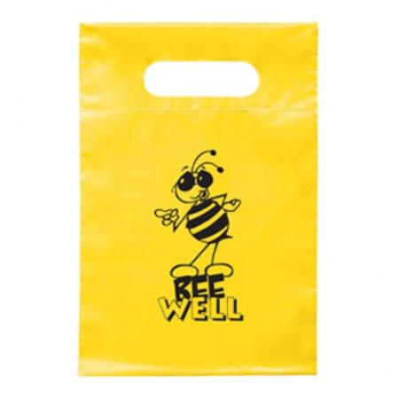 """Plastic Die Cut Handle Bags (7"""" x 10.5"""")"""