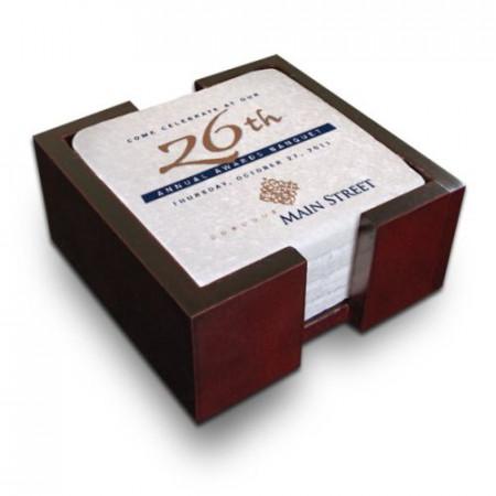 Stone Coasters - Mahogany Boxed Set of 4