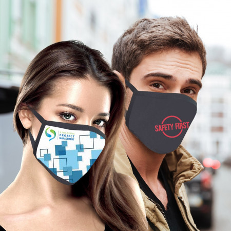 Full Color Sublimation Cotton Face Mask (Imported)