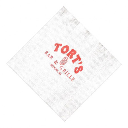 White ValueLine Cocktail Napkins (Recycled 1-Ply - Large Quantities)