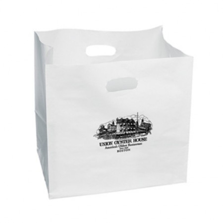 """White Carry-Out Bags (14"""" x 14"""" x 10"""")"""