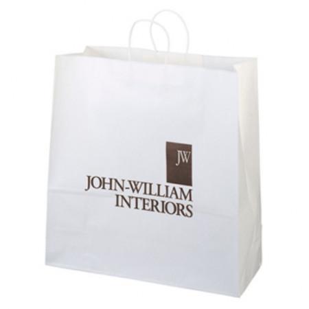 "White Kraft Shopping Bags (18"" x 18.75"" x 7"")"