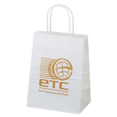 "White Kraft Shopping Bags (7.75"" x 9.75"" x 4.75"")"