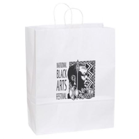 "White Kraft Shopping Bags (16"" x 19.25"" x 6"")"