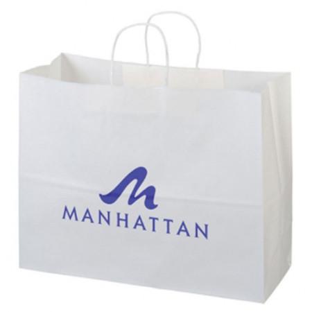 "White Kraft Shopping Bags (16"" x 12"" x 6"")"