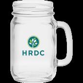 16 oz. Handled Jar Glass
