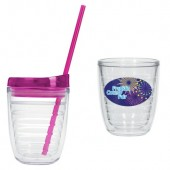 12 oz. Tritan Double Wall Tumblers with Dome Decal