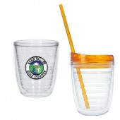 12 oz. Tritan Double Wall Tumblers with Embroidered Patch