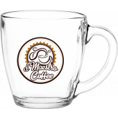 16 oz. Glass Bistro Coffee Mug