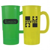 22 oz. Plastic Beer Steins