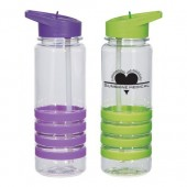 24 oz. Banded Gripper Bottles with Straw