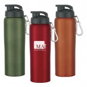 24 oz. Stainless Steel Bike Bottle with Snap Closure