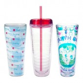 26 oz. Tritan Double Wall Tumblers with Insert