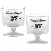 2 oz. Clear Plastic Footed Wine Glass
