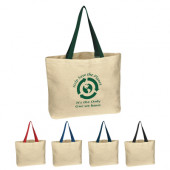 "Natural Cotton Canvas Tote (16"" x 12.5"" x 3"")"