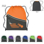 """Two-Tone Sports Pack with Front Zipper (14"""" x 18"""")"""