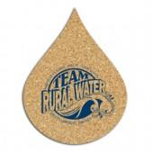 Cork Flame / Water Drop Coasters