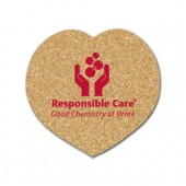 Cork Heart Coasters