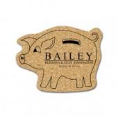 Cork Piggy Bank Coasters