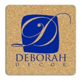 "4"" Square Cork Coasters"