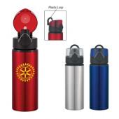25 oz. Aluminum Sports Bottle with Pop-Up Lid