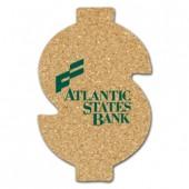 Cork Dollar Sign Coasters (Large)