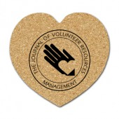 Cork Heart Coasters (Large)