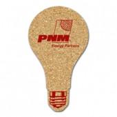 Cork Light Bulb Coasters (Large)