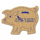 Cork Piggy Bank Coasters (Large)