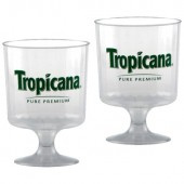 8 oz. Clear Plastic Footed Wine Glass