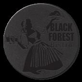"""3.875"""" Debossed Black Bonded Leather Coasters"""