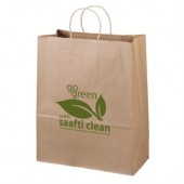 "Eco Kraft Shopping Bags (13"" x 15.75"" x 6"")"