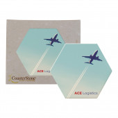CoasterStone Hexagon Absorbent Coasters