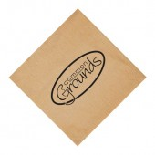 Kraft Semi-Crepe Beverage Napkins (Recycled 1-Ply - Large Quantities)