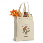 "Natural Recycled Cotton Market Bag (11"" x 15.5"" x 6"")"