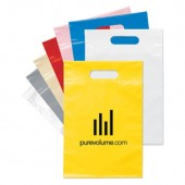 "Plastic Die Cut Handle Bags (9.5"" x 14"")"