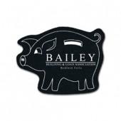 Piggy Bank Rubber Coasters