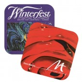 "4.25"" Full Color Square Rubber Coasters"